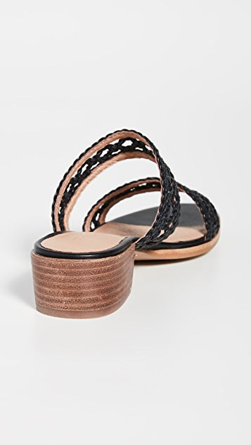 Madewell The Marianna Basket 编织凉拖鞋