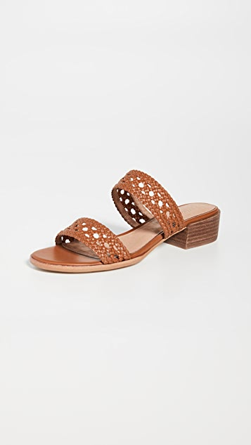 Madewell The Marianna Basket Weave Slides
