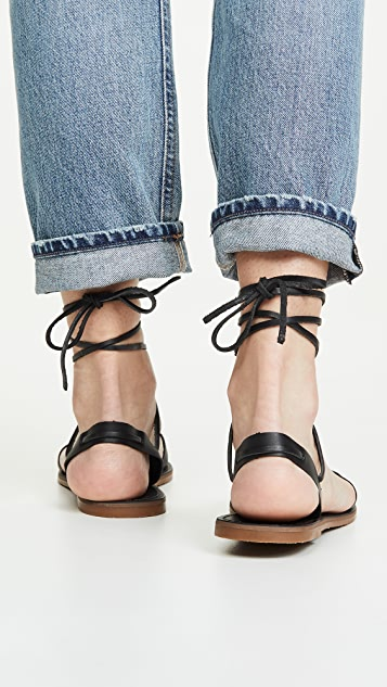 Madewell The Boardwalk Woven Lace-Up Sandals