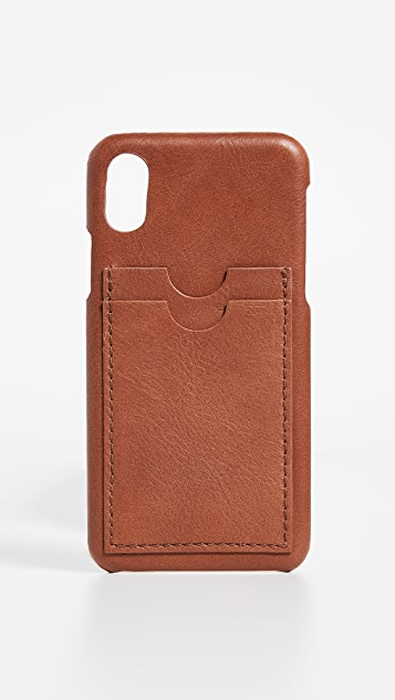 Madewell Leather Carryall Case for iPhone X