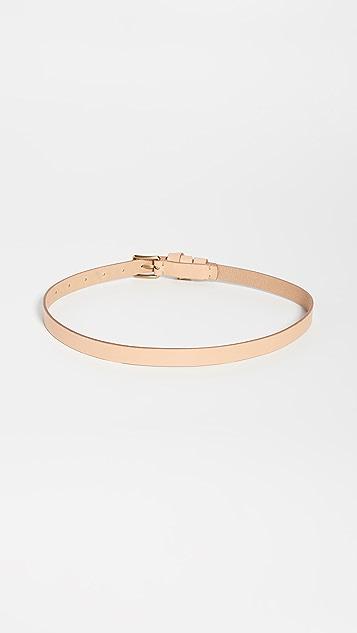 Madewell Leather Crisscross Skinny Belt