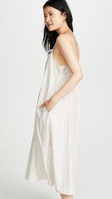 Madewell Tie Strap Maxi Dress