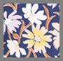 темно-синий цветочный рисунок