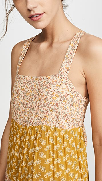 Madewell Многоуровневое миди-платье с завязкой на спине