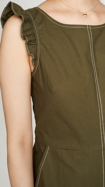 Madewell Ruffle Structured Romper