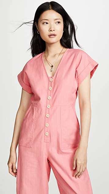Madewell Button Front Easy Jumpsuit