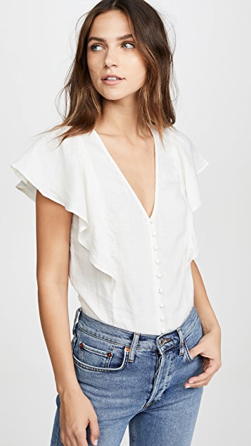 Flutter Sleeve Retro Top by Madewell