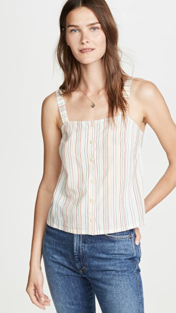 Madewell Button Front Cami Tank