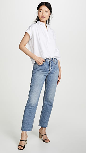 Madewell Central Popover Top