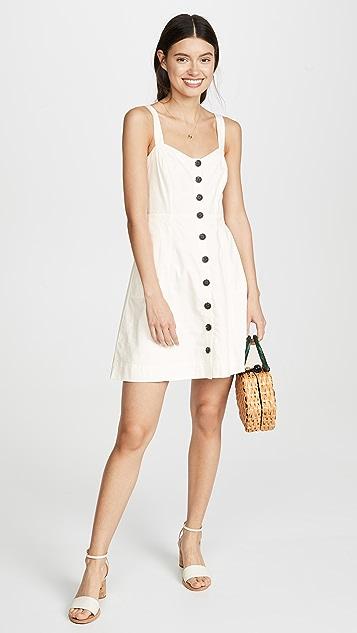 Madewell Платье с льняной вставкой спереди