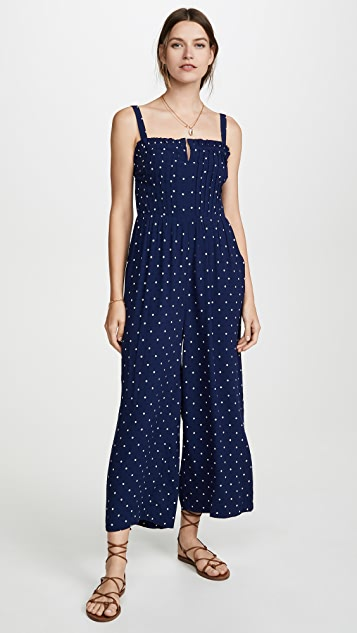 Pintuck Polka Dot Jumpsuit by Madewell