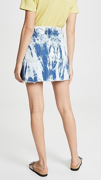 Madewell Tie Dye Denim Skirt