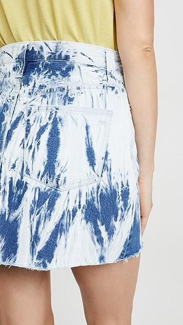 Madewell 扎染牛仔布半身裙