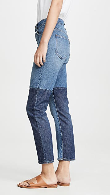 Madewell High Rise Slim Boyfriend Patching Jeans