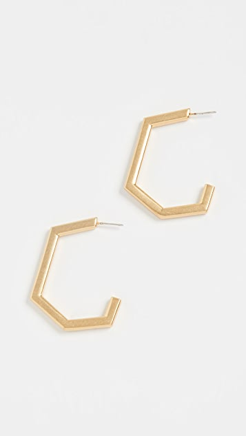 Madewell Geo Metal Hoop Earrings