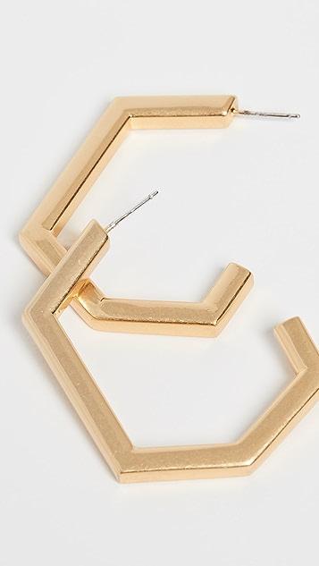 Madewell Металлические серьги-кольца геометрической формы