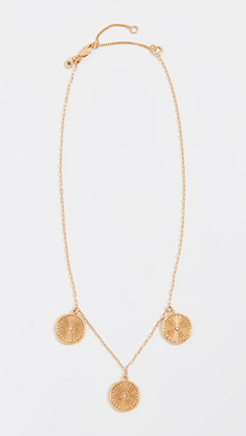 Madewell Triple Coin Pendant Necklace