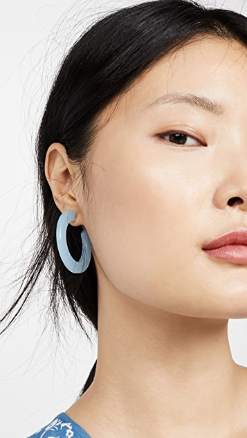 Madewell Oversized Resin Hoop Earrings