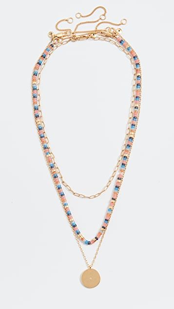 Madewell Beaded Layer Necklace Set