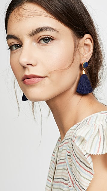 Madewell Stone & Tassel Earrings