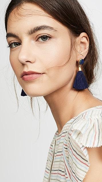 Madewell 石材&流苏耳环