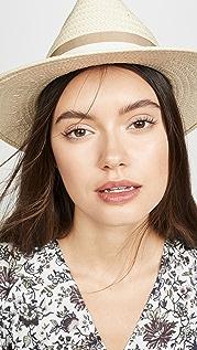 Madewell Classic Flat Brim Straw Hat with Ribbon