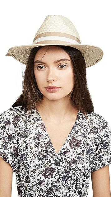 Madewell Классическая соломенная шляпа с плоскими полями с лентой