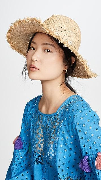 Madewell Соломенная шляпа в стиле бохо с отделкой из ракушек