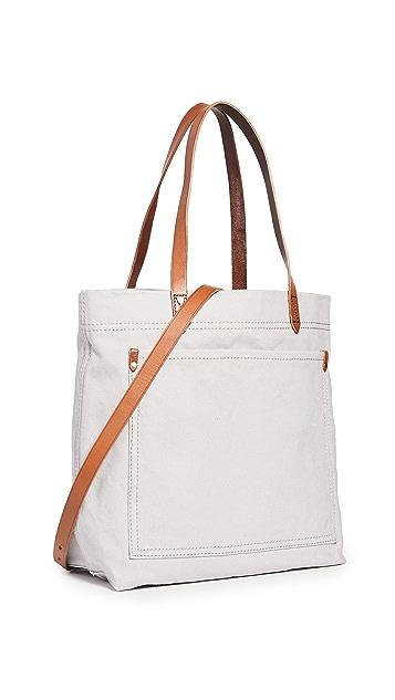 Madewell Холщовая дорожная объемная сумка с короткими ручками среднего размера