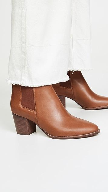 Madewell The Baine 粗跟短靴