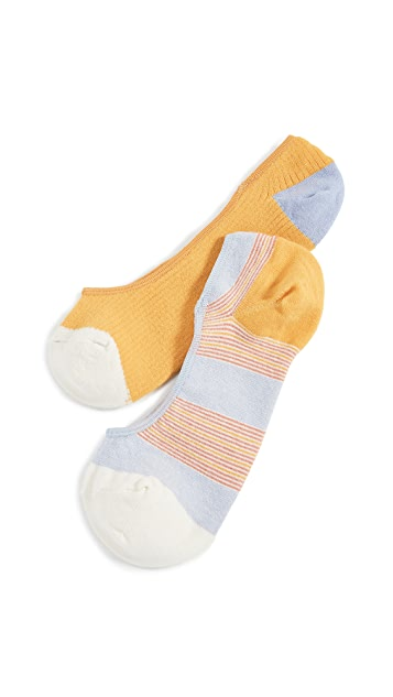 Madewell 2 Pack Riddell Stripe No Show Socks