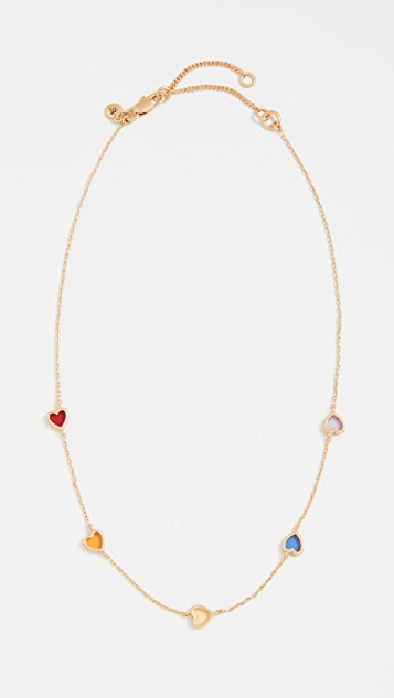 Madewell Glass Heart Necklace