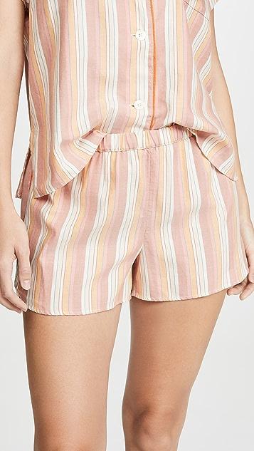 Madewell Пижамные шорты с закругленным нижним краем