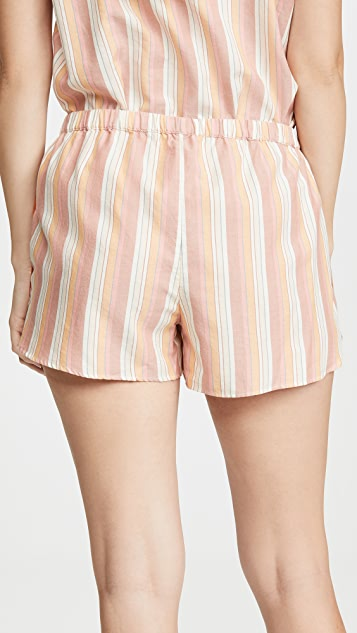 Madewell 两侧开衩弧形居家短裤