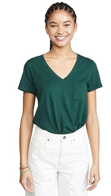 Madewell Whisper V 领口袋 T 恤