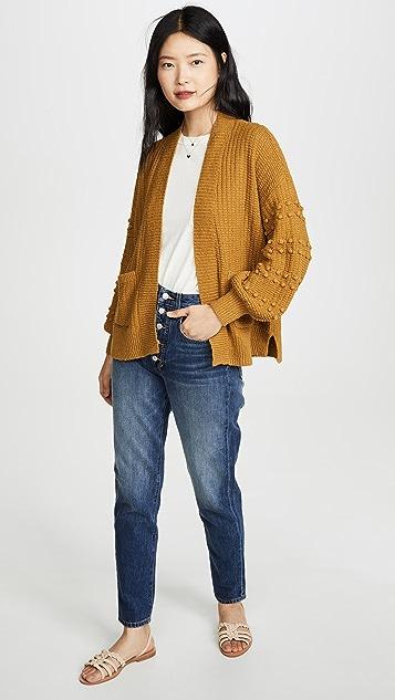Madewell Bobble Sleeve Sycamore Cardigan