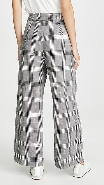 Madewell Pleated Wide Leg Crop Pants