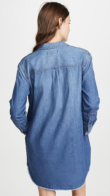 Madewell Платье-рубашка свободного кроя