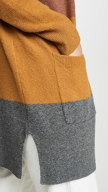 Madewell Kent Wide Stripe Cardigan