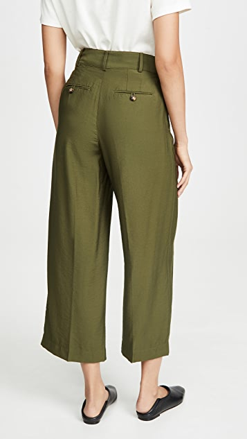 Madewell Широкие укороченные брюки со складками