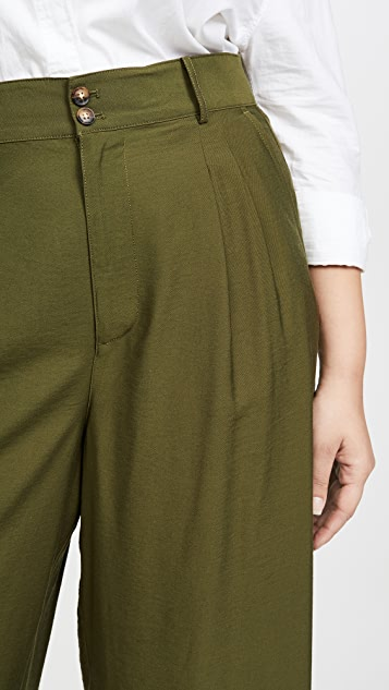 Madewell Pleated Wide Leg Crop Pants