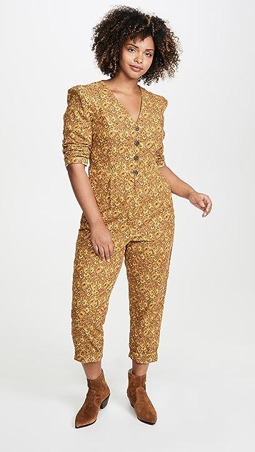 Madewell Printed Corduroy Jumpsuit