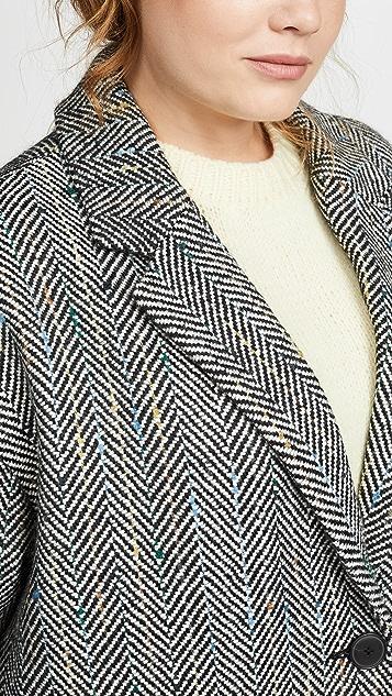 Madewell Elmcourt 斑点人字纹大衣