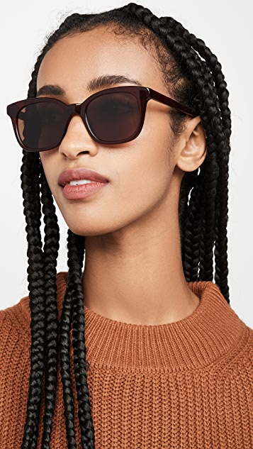 Madewell Carter Flat Frame Sunglasses