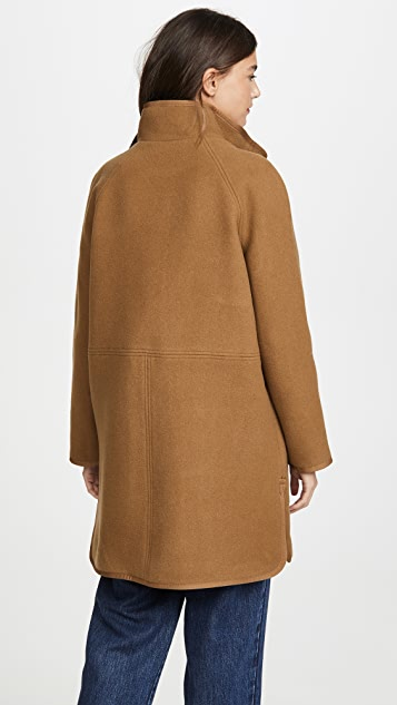 Madewell Piped Wool Cocoon Coat