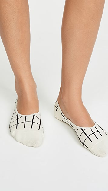Madewell Windowpane No Show Socks