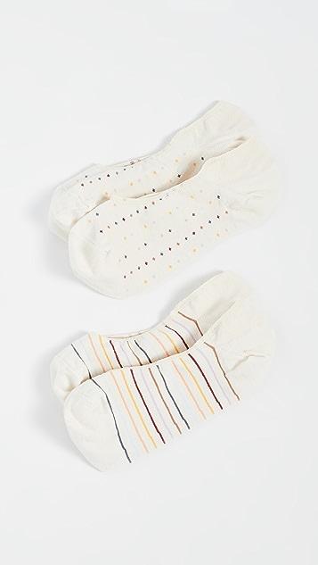 Madewell Rainbow Spot Stripe No Show Socks