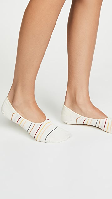 Madewell 彩虹斑点条纹船袜
