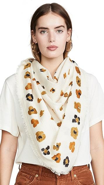 Madewell 豹纹圆点提花围巾