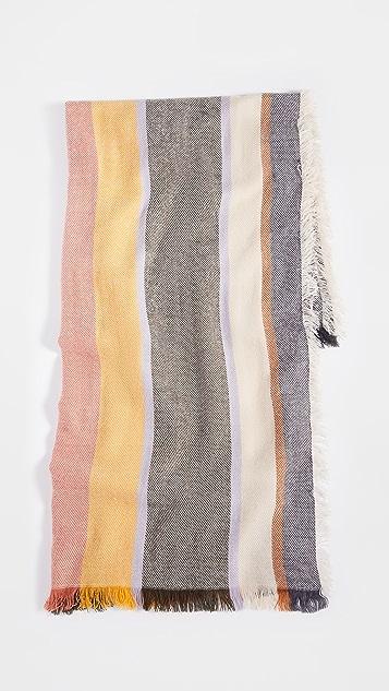 Madewell 条纹披肩式围巾